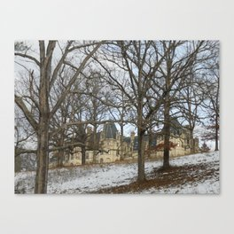 Snow on the Biltmore Canvas Print