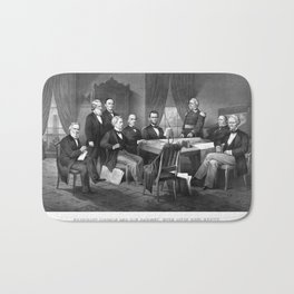 President Lincoln And His Cabinet, With Lieut. Genl. Scott Bath Mat