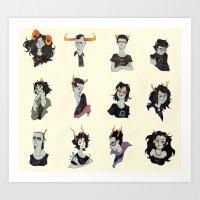 homestuck Art Prints featuring Horostuck by Naïs Quin