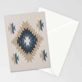 Santa Fe Southwest Native American Indian Tribal Geometric Pattern Stationery Cards