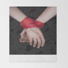 Red Ribbon Throw Blanket