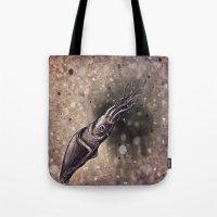 squid Tote Bags featuring Squid by Werk of Art