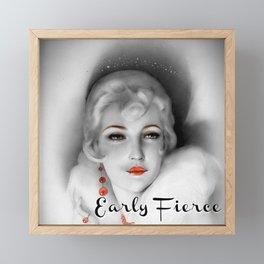 """Early Fierce"" glamour girl collage Framed Mini Art Print"