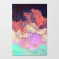 sun Canvas Prints featuring Into The Sun by Galaxy Eyes