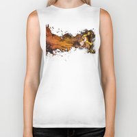 football Biker Tanks featuring Football by Frauste