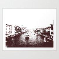 Graphic Venice Canal Art Print