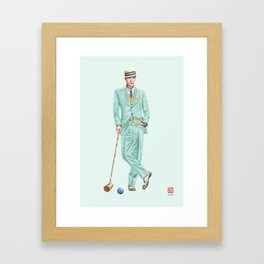 Croquet and Ink Twelve Framed Art Print