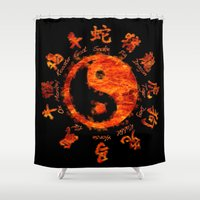 yin yang Shower Curtains featuring Yin yang. by DesignAstur