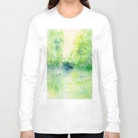 central park Long Sleeve T-shirts featuring Summertime in Central Park by SuisaiGenki