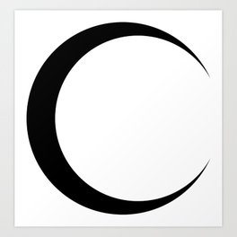 Moon Wiccan Art Print