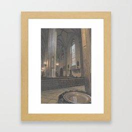 Saint Michaels Church Cluj Napoca Blessing Water Bath Framed Art Print