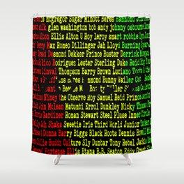 Reggae Artist - Roll Call Vol. 2 Shower Curtain