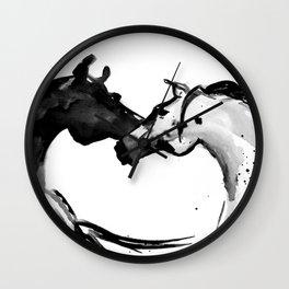 Horses (Love) Wall Clock