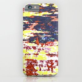 Multicolored Abstract Grunge Texture Print iPhone Case