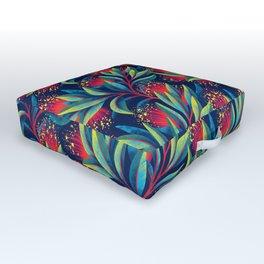 Pohutukawa - Red / Green Outdoor Floor Cushion