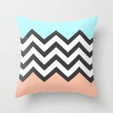Color Blocked Chevron 4 Throw Pillow