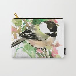 Chickadee and spring blossom Carry-All Pouch