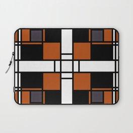 Neoplasticism symmetrical pattern in tangelo Laptop Sleeve