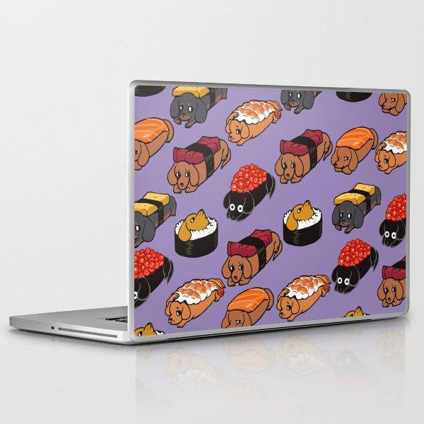 Sushi Daschunds Laptop & iPad Skin