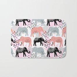 Elephants. Bath Mat