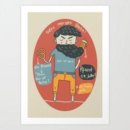 Brezel und Bier Art Print