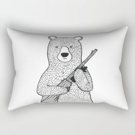 Danger bear Rectangular Pillow
