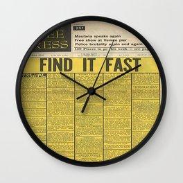 FIND IT FAST  Wall Clock