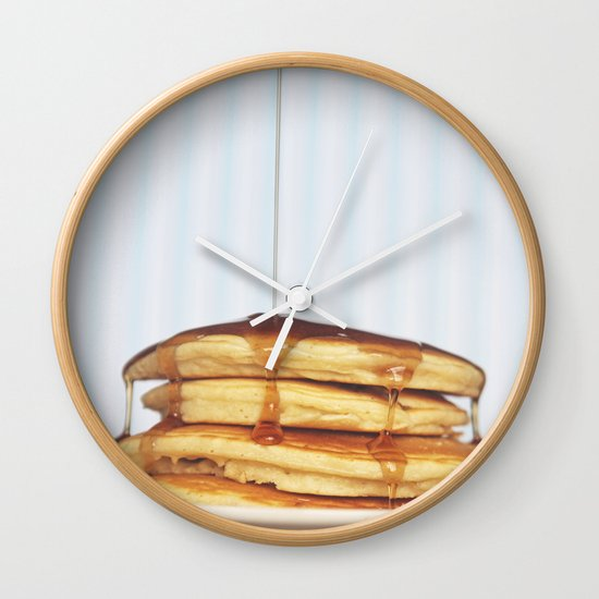 Wake Up and Smell the Pancakes Wall Clock