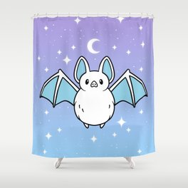 Cute Night Bat Shower Curtain