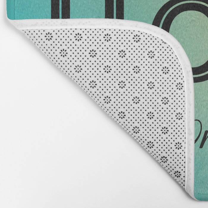 Always Have Hope (Seagull Flying in Teal Sky) Bath Mat