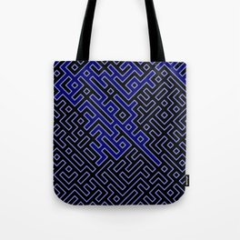 dark blue labyrinth Tote Bag