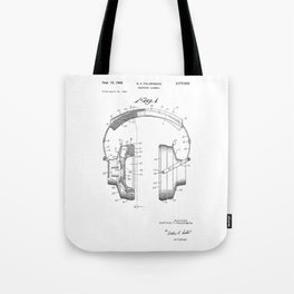 patent art Falkenberg Headphone assembly 1966 Tote Bag