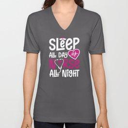 Nurse all night Unisex V-Neck