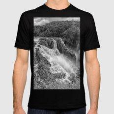 Stunning Barron Falls Mens Fitted Tee MEDIUM Black