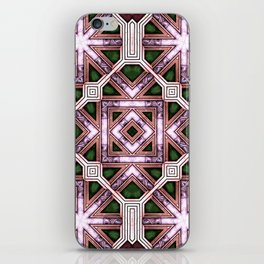Victorian Art Deco Medieval Pattern colorful SB39 iPhone Skin