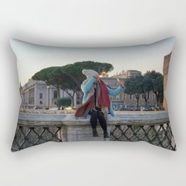 Selfie in Rome Rectangular Pillow