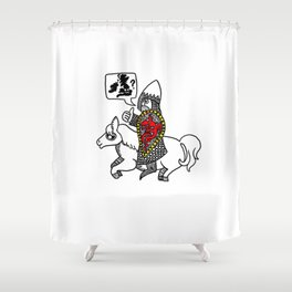 Norman Knight Shower Curtain
