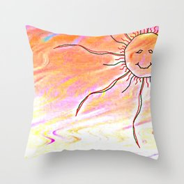 sunny Dayz Throw Pillow