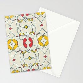 Funky Monkey Retro Tiles Stationery Cards