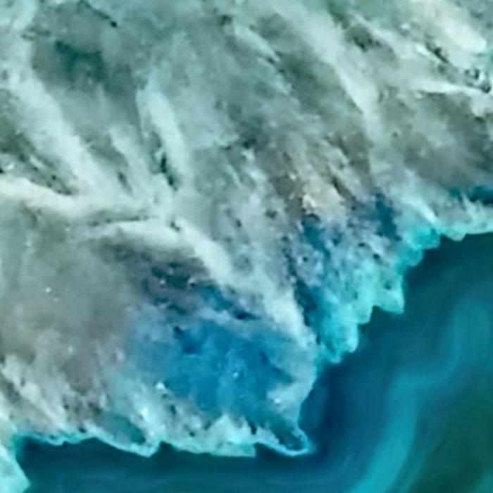 Aqua turquoise agate mineral gem stone - Beautiful Backdrop Leggings