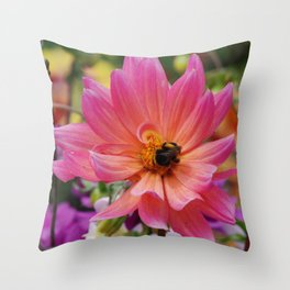 Busy at work Throw Pillow
