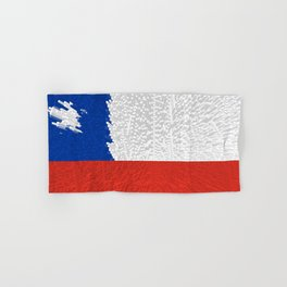 Extruded Flag of Chile Hand & Bath Towel