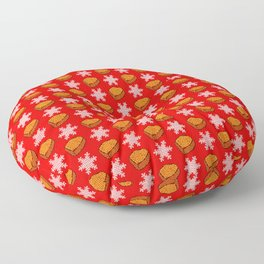Christmas Chicken Nuggets Floor Pillow
