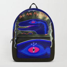You Are My Blue Dinosaur Backpack