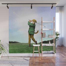 Sir Terrance Terrier Golfing Wall Mural