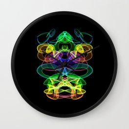 Abstract Skull Wall Clock
