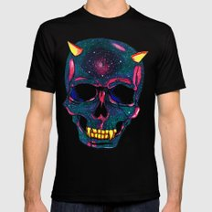 Space SKULL Black Mens Fitted Tee LARGE