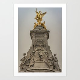 Palace Views Victoria Monument London England Art Print