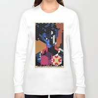 nightcrawler Long Sleeve T-shirts featuring Geometric Nightcrawler by Head Glitch