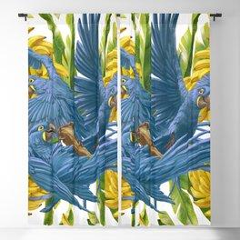 Hyacinth macaws and bananas Stravaganza. Blackout Curtain